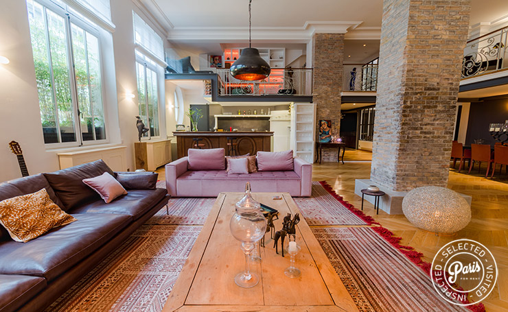 Lounge area at Latin Quarter Loft, apartment for rent in Paris, Latin Quarter