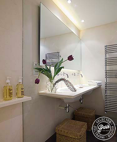 Second bathroom at Movie Loft, vacation rental in Paris, Opera-Vendome