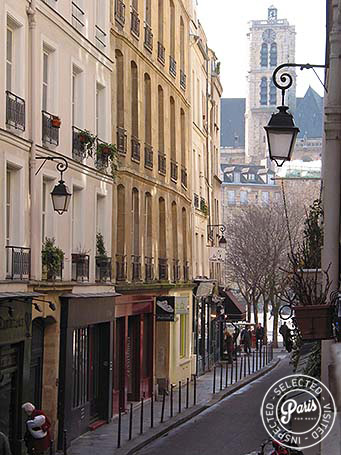 View of Rue du Bourg-Tibourg from Bourg 2, apartment for rent in Paris, Marais