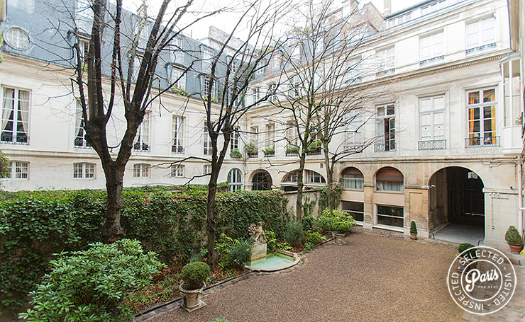 Courtyard of St Germain Grenelle, apartment for rent in Paris, Saint Germain