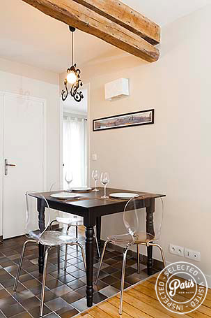 Dining area at Mouffetard 2, apartment for rent in Paris, Latin Quarter