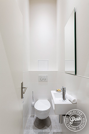 Separate toilet at Marais Sicile, apartment for rent in Paris, Marais
