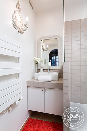 Bathroom at Bourg, apartment for rent in Paris, Marais