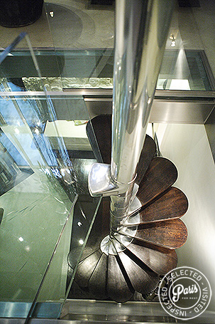 Helix of stairs to Gym at Movie Loft, apartment for rent in Paris, Opera-vendome