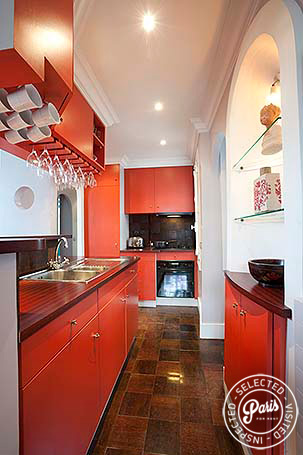 Fully equipped kitchen at Montmartre Amelie, apartment for rent in Paris, Montmartre