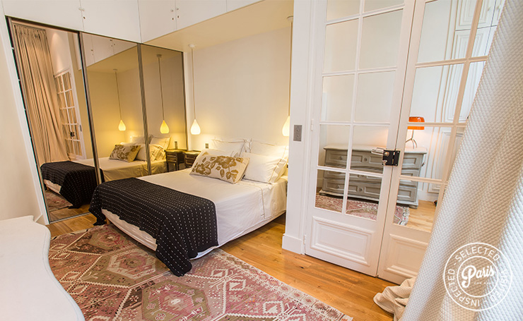 Wardrobe With Mirrors At St Germain Charm Paris Apartment Rental Saint