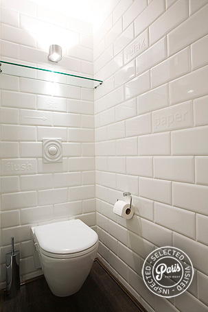 Separate toilet at St Germain Eden, apartment rental in Paris, Saint Germain