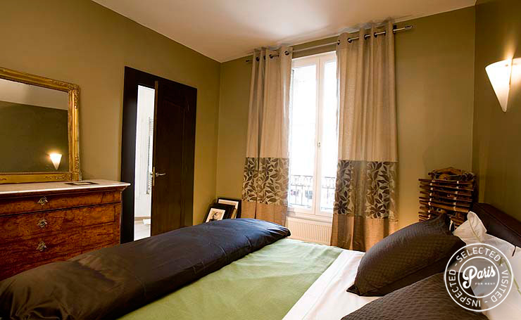 Master bedroom at Four, apartment for rent in Paris, Saint Germain