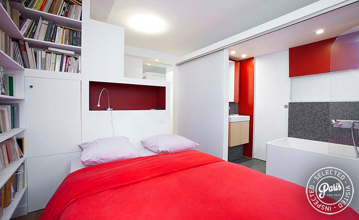 Bedroom at Marais Tournelles, apartment for rent in Paris, Marais