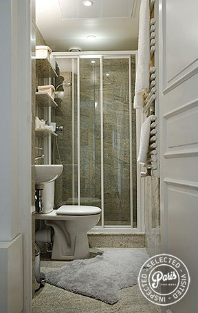 Bathroom with WC and shower at St Germain Attitude, Paris apartment rental, Saint Germain