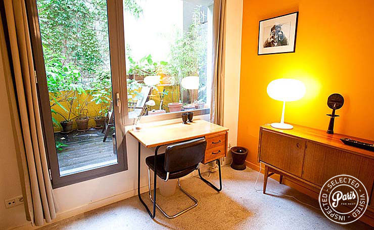 View of the wood terrace at Paris Townhouse, Paris vacation rental, 10th district