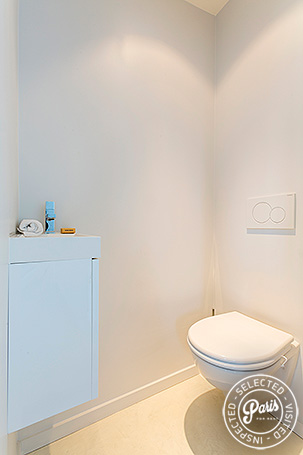 Separate WC at Marais Skyline, Paris vacation rental, Marais