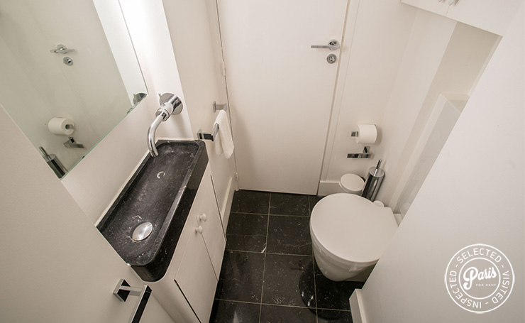 Ensuite WC with sink at St Germain Charm, vacation rental in Paris, Saint Germain
