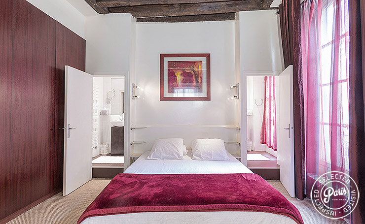 Tempur-Pedic king size bed at St Germain Gem, apartment rental in Paris, Saint Germain