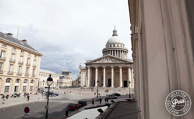 View of Pantheon monument from Pantheon, Paris apartment for rent, Latin Quarter