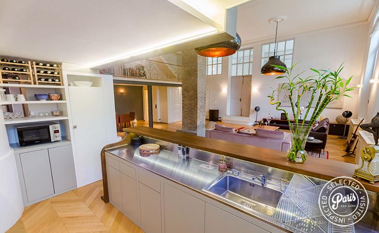 Gourmet kitchen at Latin Quarter Loft, apartment for rent in Paris, Latin Quarter