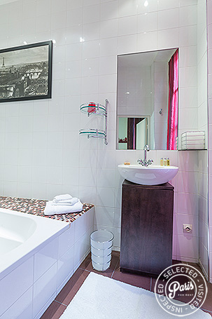 Ensuite bathroom at St Germain Gem, apartment for rent in Paris, Saint Germain