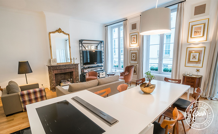 induction range at St Germain Charm, apartment for rent in Paris, Saint Germain