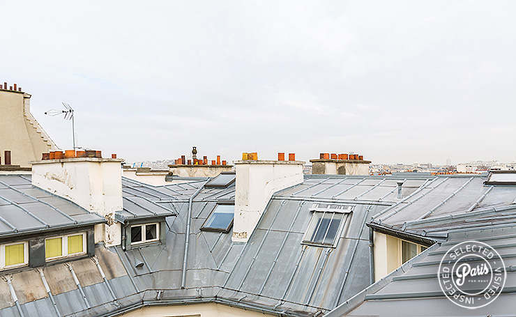 View of Paris rooftops at Marais Skyline, apartment for rent in Paris, Marais