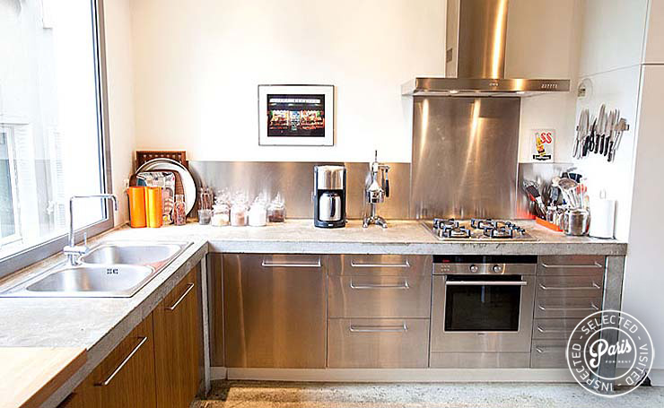 Fully equipped kitchen at Paris Townhouse, apartment for rent in Paris, 10th district