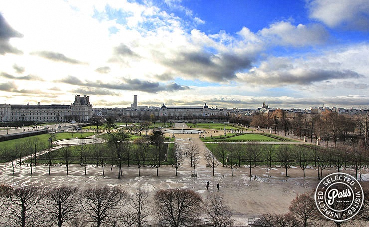 Panoramic view from Tuileries Garden, Paris flat rental, Opera-vendome