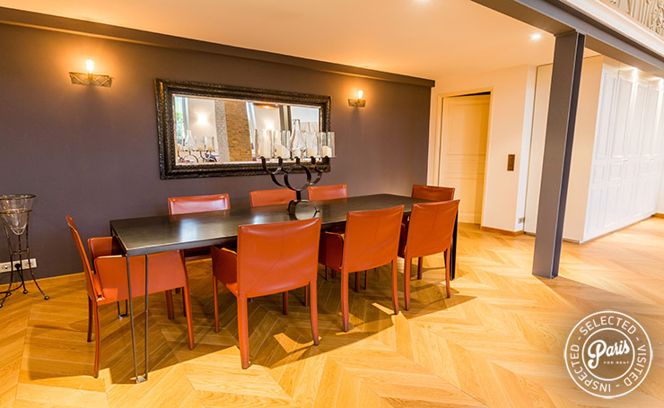 Dining area at Latin Quarter Loft, apartment for rent in Paris, Latin Quarter