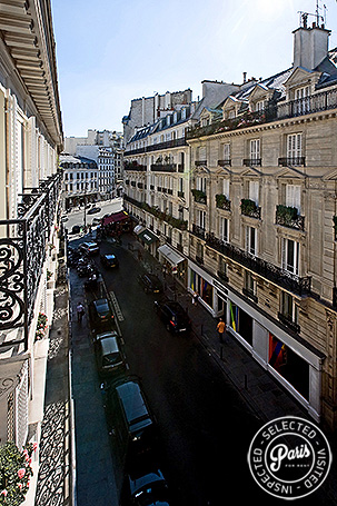 View of Rue des St Pères from St Germain Luxe, Paris vacation rental, Saint Germain