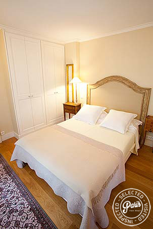 Bedroom with fun-sized bed at Marais Elegance, apartment for rent in Paris, Marais