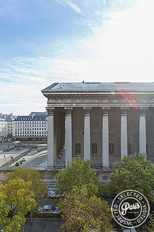 View of the Madeleine monument from Madeleine Terrace, Paris vacation rental, Opera-Vendome