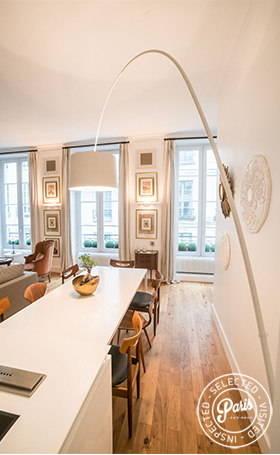 Rectangle dining table at St Germain Charm, apartment rental in Paris, Saint Germain