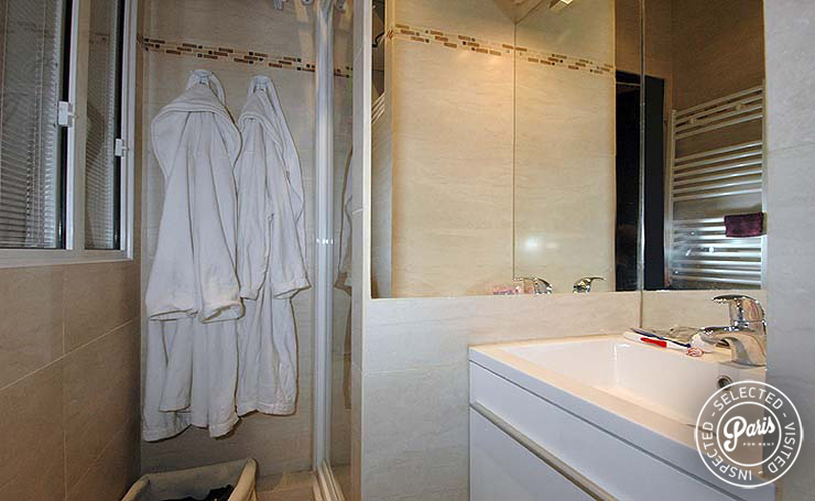 Bathroom at Bourg Suite, apartment for rent in Paris, Marais