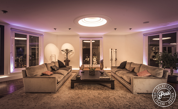 Contemporary lighting at St Germain Chic, apartment rental in Paris, Saint Germain