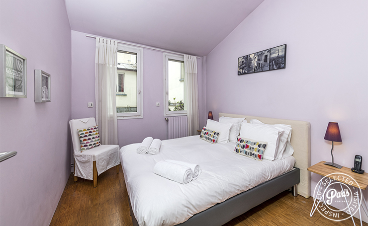bedroom in 3 bedroom duplex home in Paris apartment in the heart of Paris Marais district