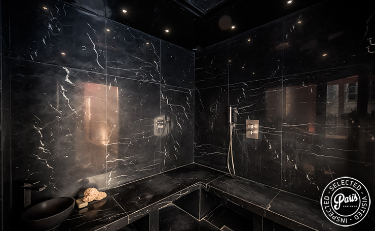 Private steam room  at St Germain Chic, apartment rental in Paris, Saint Germain