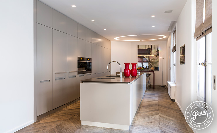Fully equipped gourmet kitchen at Elysee Garden, apartment rental in Paris, Champs-Elysées