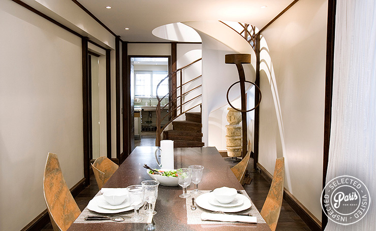 Dining area at St Germain Eden, apartment rental in Paris, Saint Germain