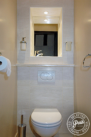 Separate toilet at Bourg Suite, apartment for rent in Paris, Marais