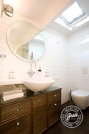 Second bathroom at St Germain Eden, Paris vacation rental, Saint Germain