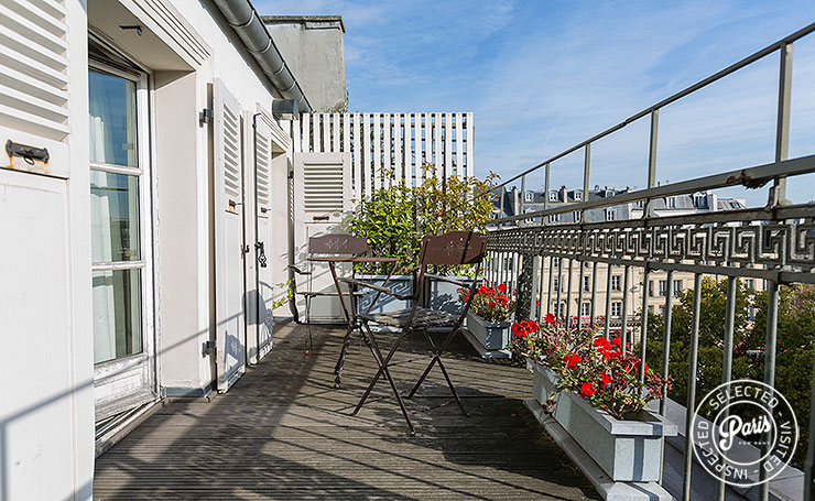Private terrace at Madeleine Terrace, apartment for rent in Paris, Opera-Vendome