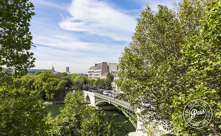 View of Pont de Sully from Quai Royal, apartment for rent in Paris, Marais