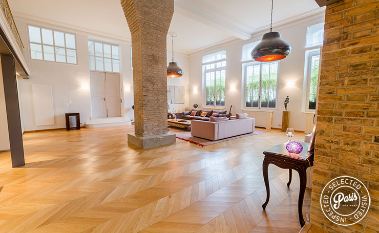Bright living room at Latin Quarter Loft, apartment for rent in Paris, Latin Quarter