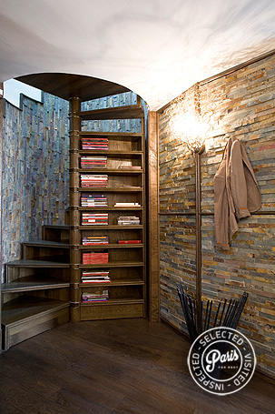 Inner stairs to bedrooms at St Germain Eden, Paris vacation rental, Saint Germain