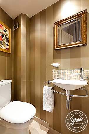 Separate toilet with sink at Notre Dame, vacation rental in Paris, Latin Quarter