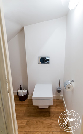 Modern toilet at Latin Quarter Loft, Paris apartment rental, Latin Quarter