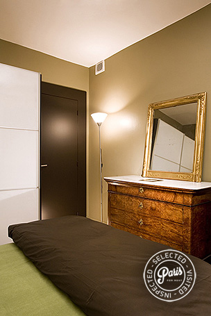 Antique drawers in bedroom at Four, apartment for rent in Paris, Saint Germain