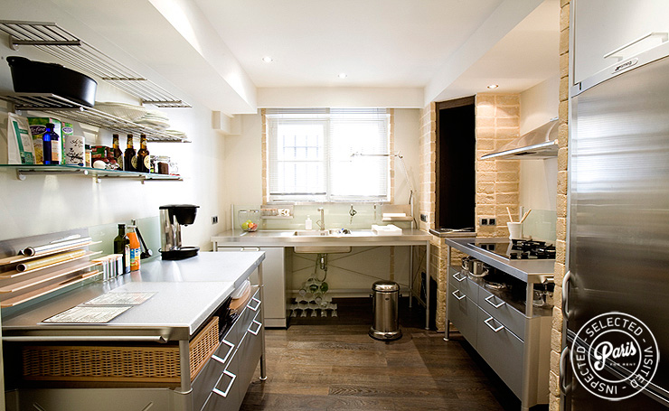Fully equipped kitchen at St Germain Eden, apartment for rent in Paris, Saint Germain