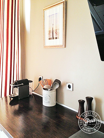 Nespresso machine at Rue Cler, apartment for rent in Paris, Eiffel tower