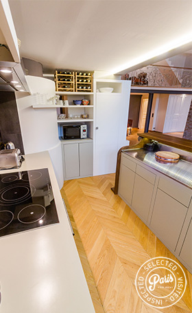 ceramic hob at Latin Quarter Loft, Paris apartment rental, Latin Quarter