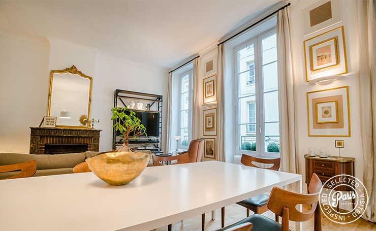 Dining area at St Germain Charm, apartment rental in Paris, Saint Germain