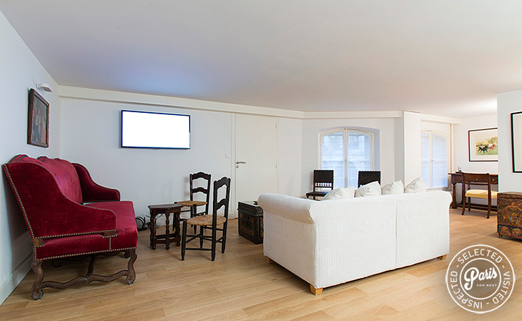 Living area at St Germain Grenelle, apartment for rent in Paris, Saint Germain